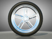 Automotive alloy wheel — Stock Photo