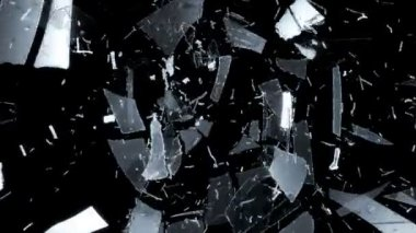 Broken and Shattered glass — 图库视频影像