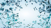 Shattered or smashed glass — Stock Photo