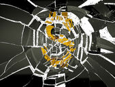 Broken US dollar symbol — Stock Photo