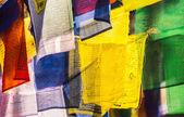 Colorful buddhist Prayer flags — Stock Photo