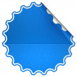 Blue round spotted sticker or label — Stock Photo #5510757