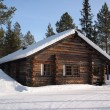 Lapland log cabin — Stock Photo #13166195