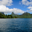Royalty-Free Stock Photo: Tropical Moorea skyline