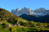 St. Magdalena in the Dolomites — Stock Photo