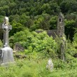Stock Photo: Celtic cross at graveyard