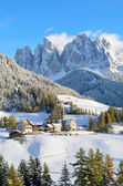 Santa Maddalena in winter — Stock Photo