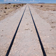 Railroad track leading nowhere — Foto Stock #32247645