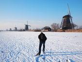Ice skating in Holland — Stock Photo
