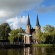 Oostpoort in historical Delft — Stock Photo