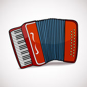 Accordion vector illustration — Stock Vector
