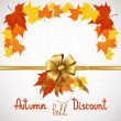 Autumn fall of discount — Stock Vector