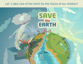 Save the Earth for the future of our children — Stock Vector