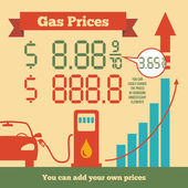 Gas prices infographics — Stock Vector