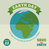 Earth day flat design poster — Stock Vector