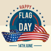 Flag Day of united states greeting card — Stock Vector