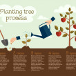 Planting tree process — Stock Vector #47671705