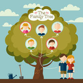 The Family tree — Stock Vector