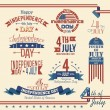 American independence day label set — Stock Vector