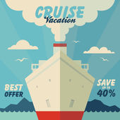 Cruise vacation and travel illustration — Vecteur