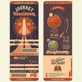 Journey to Mars boarding pass — Stock Vector