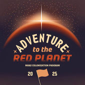 Adventure to the red planet — Stock Vector