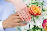 Hands of the newlyweds — Foto Stock