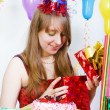Birthday of a young girl — Stock Photo
