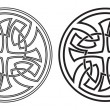 Celtic vector round ornament. Set — Stock Vector