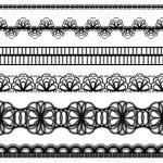 Lace borders. design elements — Stock Vector