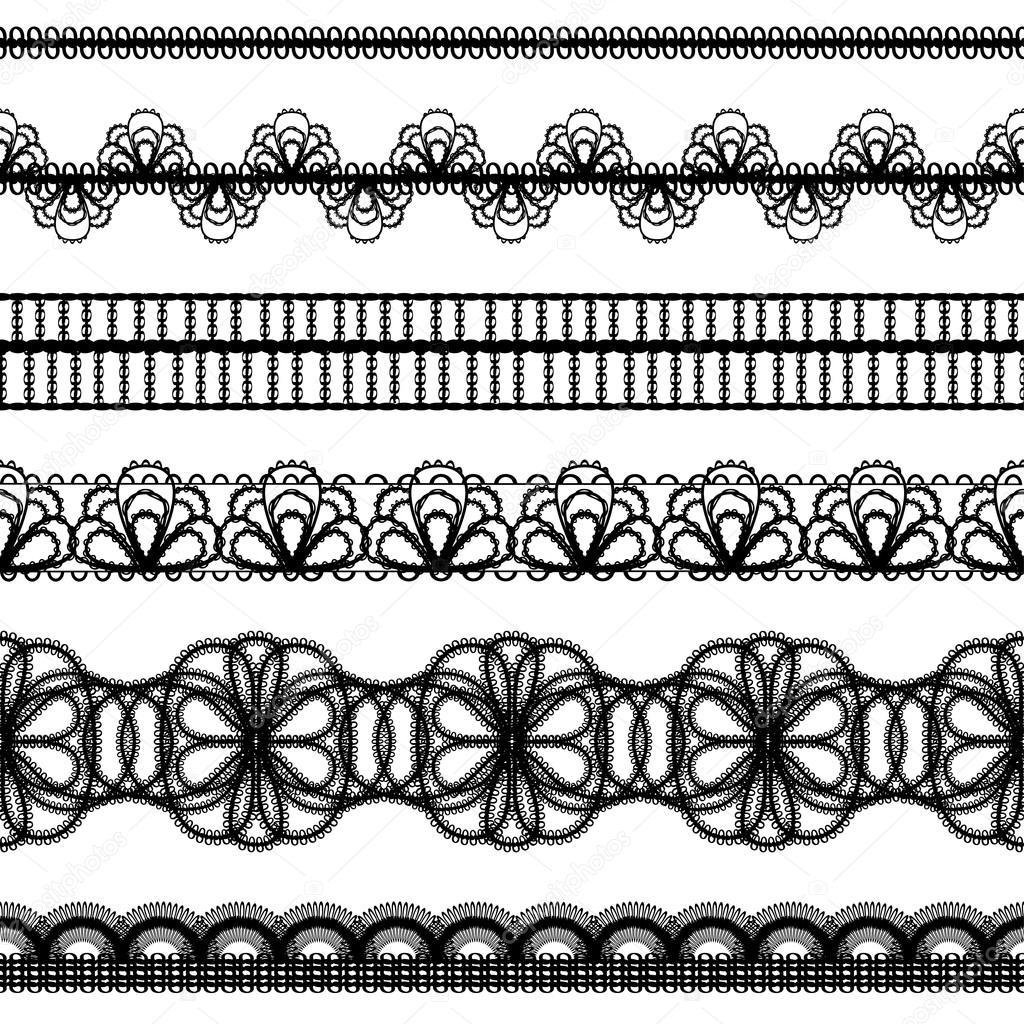 Lace borders. design elements — Stock Vector © pzRomashka #13874171