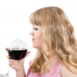 The young woman with a wine glass — Stock Photo #1488688