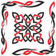 Royalty-Free Stock Vector Image: Celtic vector black and red ornament for design