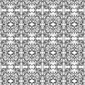 Vector seamless lace pattern. Black on a white background — Stock Vector
