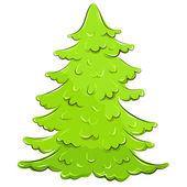 Vector illustration. lush Christmas tree — Stock Vector