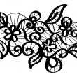 Seamless vector black lace — Stock Vector