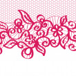 Royalty-Free Stock Vector Image: Seamless red lace with floral pattern