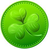 Vector green clover. symbol of St. Patrick's Day — Stock Vector