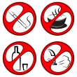 Stock Vector: Vector prohibiting signs