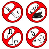 Vector prohibiting signs — Stock Vector