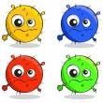 Dessin animé les germes les virus et les microbes illustration