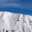 Snow-covered mountain — Stockfoto