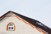 Roof brick house — Stock Photo