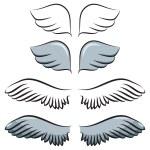Set of cartoon wings — Stock Vector #25317887