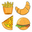 Fast food. Vector illustration. — 图库矢量图片