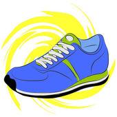 Scarpe da corsa — Vettoriale Stock