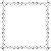 Vector simple wicker frame. monochrome pattern. — Stock Vector
