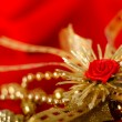 Stock Photo: Red and gold. Holiday decorations