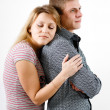 Young woman hugging man — Stock Photo #39044107