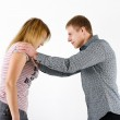 Young woman fighting with a man — Stock Photo #39044219
